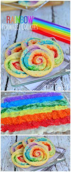Rainbow Pinwheel Cookies   23 Pinwheel Snacks That Taste As Good As They Look