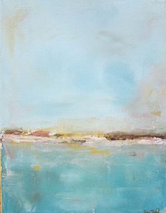 Abstract seascape by Linda Donohue
