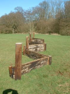 thick rustic (2 squares in length) planks for XC diy jumps