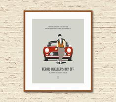 FERRIS BUELLERS DAY OFF: Alternative Movie Poster Art Print. Movie posters created by a movie fan as a tribute to some of the most beloved films.