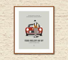 Ferris Bueller's Day Off: Minimalist Movie by SITMArtPrints