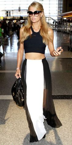Paris Hilton's maxi skirt: