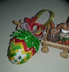 Velikonoční+vajíčko+barevné+Patchworkové+vajíčko