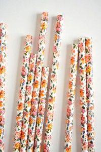 Flower paper straws