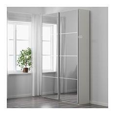 Ideas Bedroom Wardrobe White Ikea Pax For 2019 White Sliding Door Wardrobe, Ikea Sliding Door, Mirrored Wardrobe Doors, Ikea Pax Wardrobe, White Closet, Bedroom Wardrobe, Ikea Closet, White Wardrobe, Closet Doors