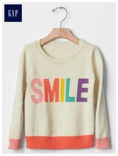 Smile colorblock sweater