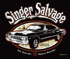 Geek Gear: Supernatural Shirt 'Singer Salvage' (Reprint)