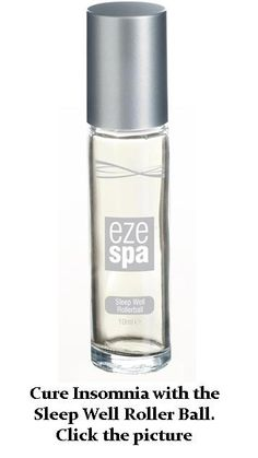 Cure Insomnia with the Sleep Well Roller Ball. Exclusive to EzeSpa http://www.kleenezeshop.com/products/2009-ezespa-sleep-well-rollerball.aspx?AffiliateId=318