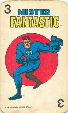Marvel Comics Superheroes Card Game | Mister Fantastic