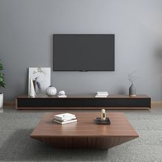 Modern Wood Coffee Table with Storage Square Drum Coffee Table with Drawer Drum Coffee Table, Coffee Table With Drawers, Simple Coffee Table, Living Room Modern, Home Living Room, Living Room Decor, Modern Minimalist Living Room, Modern Tv Room, Centre Table Living Room