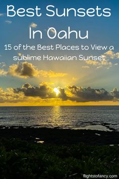 Watching a few Oahu sunsets is always on our Hawaii itinerary. This post features all my tips on where to view the best sunsets in Oahu. Vacation Places In Usa, Hawaii Vacation, Hawaii Travel, Places To Travel, Travel Destinations, Holiday Destinations, Canada Travel, Travel Usa, Italy Travel
