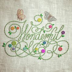 Wonderful (Embroidered) on Behance