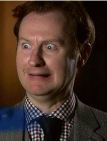 A freaked out duplicating Mark Gatiss GIF. Haha crying right now. You must click it.