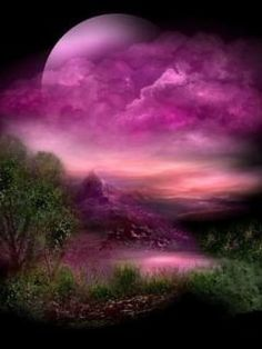 Purple moon.