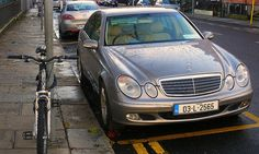 Luxurious Mercedes Benz E200 Kompressor - Luxury version - ( Car vs. Bicycle! ) which shows of a great figure and a sexy complexion of the perfect body! 14/11/2009 - North Dublin, Ireland, Enjoy!