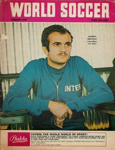 World Soccer magazine in February 1969 featuring Sandro Mazzola of Inter Milan on the cover.