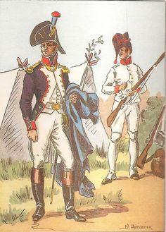 French; 18th Line Infantry, Fusilier Officer & Fusilier in Veste, 1805