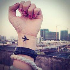 2pcs Little Airplane InknArt Temporary Tattoo wrist by InknArt