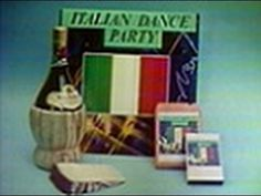 """Italian Dance Party (Record Offer, 1984)  Here's a record offer commercial for Italian Dance Party, featuring disco-fied versions of such familiar all-time Italian hits as """"Arrivederci Roma,"""" """"More,"""" """"O Sole Mio,"""" """"Mama,"""" """"Come Back to Sorrento,"""" """"Tarantella,"""" """"Amena E Core,"""" """"C'e'la Luna,"""" """"Volare,"""" """"Non Pensare a Me,"""" """"Theme from 'The Godfather',"""" """"Scusa Me,"""" """"Quando, Quando, Quando,"""" """"I Have But One Heart,"""" """"Kiss Me,"""" """"Santa Lucia,"""" """"Al Di La,"""" """"Come Prima,"""" """"Tra Veglia E Sonno"""" and """"Mala Femmina,"""" as performed by the Festa Roma Band. Available on LP, 8-track or cassette. (Bottle of Italian wine and cheese not included, alas.)  Main voiceover by Wendell Craig. Ending voiceover by ??  """" . . . done with all the excitement and fever of a Saturday night festa.""""  This aired on local Binghamton, NY TV on Friday, March 9th 1984 during the 11:30pm to 1:45am (EST) timeframe."""