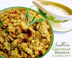 Old Fashioned Thanksgiving Turkey and Southern Cornbread Dressing with Giblet Gravy {Homemade ...