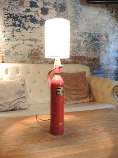gasfles lamp