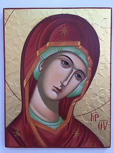 Our Lady-Mother of God By Francoise Michalopoulou Canadian Maple Leaf, Byzantine Icons, Princess Zelda, Disney Princess, Our Lady, Sheep, Disney Characters, Fictional Characters, Aurora Sleeping Beauty