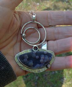 Grape Chalcedony pendant