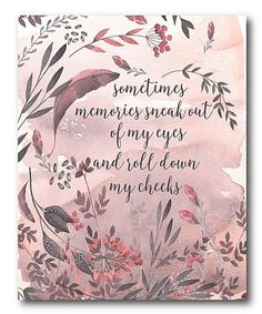 This 'Sometimes Memories Sneak out of My Eyes' Wrapped Canvas is perfect! #zulilyfinds