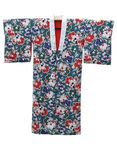 ☆ New Arrival ☆ '#Chelsea #Girl' #women's #green #vintage #Japanese #kimono with #camellia #floral pattern from #FujiKimono http://www.fujikimono.co.uk/fabric-japanese/chelsea-girl.html