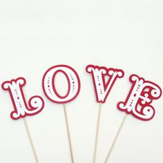 Items similar to Wedding Photo Booth Props - LOVE on individual sticks, Perfect for a Group Photo on Etsy Wedding Photo Booth Props, Photo Props, Wedding Pics, Wedding Day, Wedding Stuff, Dream Wedding, Here Comes The Bride, Online Gifts, Event Decor