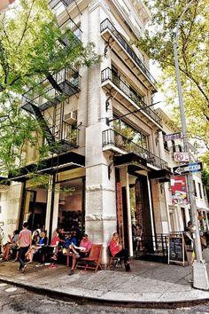 coffee shop in Greenwich Village, New York City