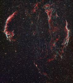 La nebulosa del Velo, remanente de una supernova en la constelación del Cisne (Greg Parker, 2015)