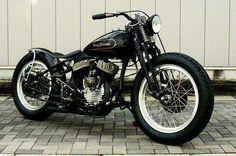 Harley-Davidson Flathead springer bobber, gotta love the look Motos Bobber, Bobber Bikes, Bobber Motorcycle, Bobber Chopper, Cool Motorcycles, Vintage Motorcycles, Motorcycle Garage, Softail Bobber, Sportster 1200
