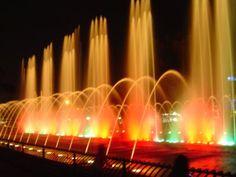 A magnificent fountain in Santiago, Chile.