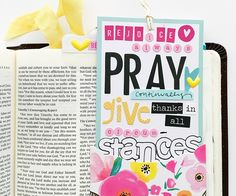 1 Thessalonians 5:16-18 Rejoice Always, Pray Continuously, Give Thanks In All Circumstances... pocket card Bible Journaling by Bailey