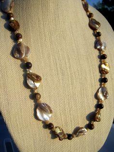 Summer Necklace Handmade with Sea Shells & by CraftySchmantzy, $35.00