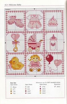 This Pin was discovered by Osc Baby Cross Stitch Patterns, Cross Stitch For Kids, Cross Stitch Cards, Cross Stitch Baby, Cross Stitch Designs, Cross Stitching, Baby Embroidery, Cross Stitch Embroidery, Embroidery Patterns