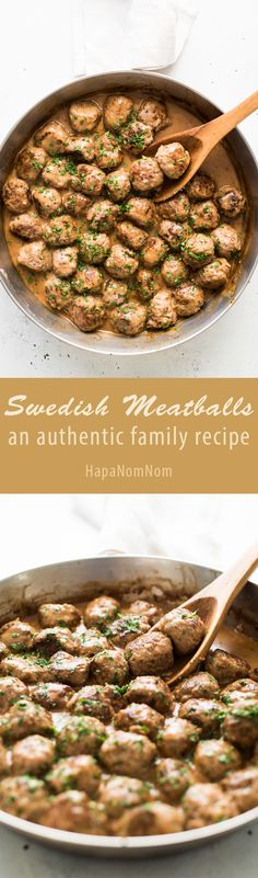 Swedish Meatballs - a authentic family recipe that's quick and easy to make!
