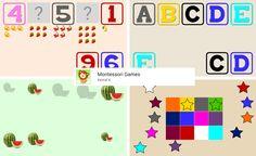 Er bestaat een app die heet: Montessori games waarbij je 'Montessori spelletjes' kunt spelen op bijvoorbeeld de tablet.
