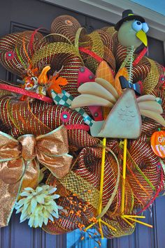 Thanksgiving Wreath= Jackie can make me this :)