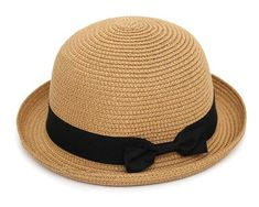 Bowknot Flanging Sun summer hats for women Straw Hat #BeachHatsForWomen