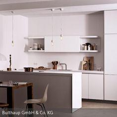 Bulthaup München cosdon in matt light grey foundry doors in black steel ha203