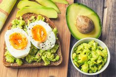 English Muffin with Avocado and Hardboiled Eggs
