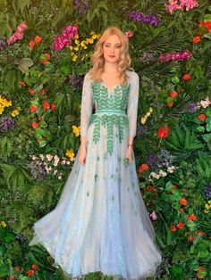 AMBAR STUDIO 2019 Camina Blue and Green Dress