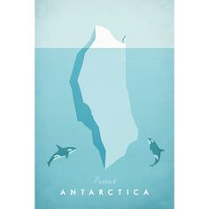Antarctica by Henry Rivers - Travel Poster Co. - Visuel 1