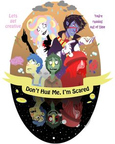 don't hug me i'm scared fanart computer - Google Search