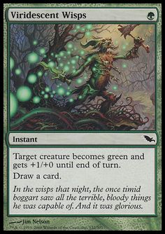 Viridescent Wisps - Instant - Tree - Green - Shadowmoor - Magic The Gathering Trading Card