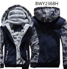 eb7995af72 USA SIZE Super Warm Hoodies Sweatshirts Winter Thicken Fleece Camouflage  Men s Jackets Zipper Hooded Coats Clothes New