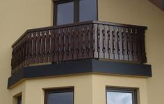 Drewniane balustrady balkonowe, Balustrady zewnętrzne z drewna, Balkony, Barierki