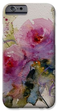 Paper Roses iPhone Case by Sandra Strohschein